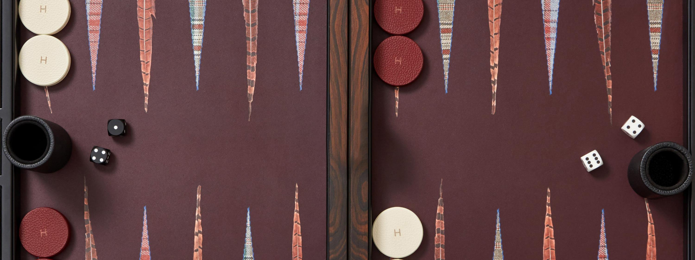 Hunstman x Alexandra Llewellyn bespoke backgammon board