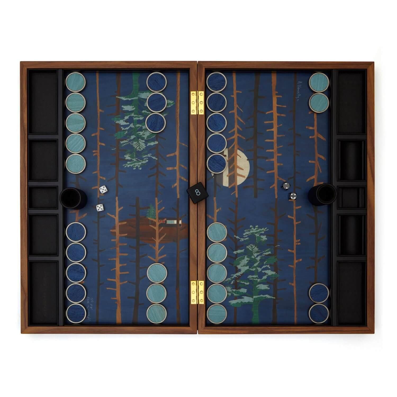 Alexandra Llewellyn Tom Hammick Backgammon Set Open
