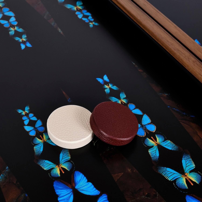Alexandra Llewellyn Butterfly Backgammon Set Detail