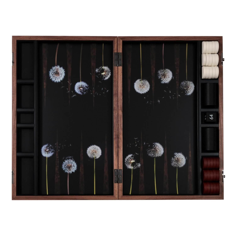 Alexandra Llewellyn Dandelion Backgammon Set Open