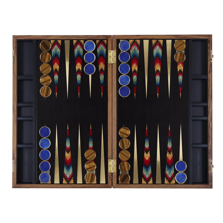 Alexandra Llewellyn Turquoise Backgammon Set Open