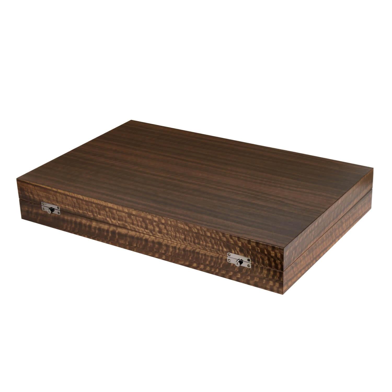 Alexandra Llewellyn Geometric Walnut Backgammon Set