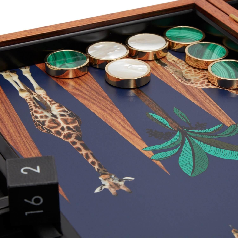 Alexandra Llewellyn Giraffe Backgammon Set Detail