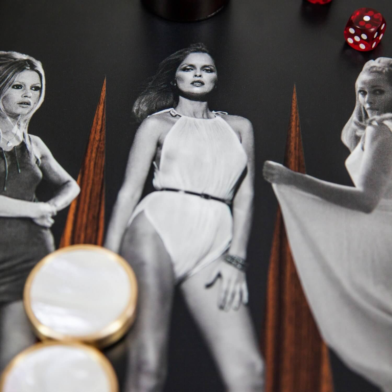 Alexandra Llewellyn Goddesses Backgammon Set Detail