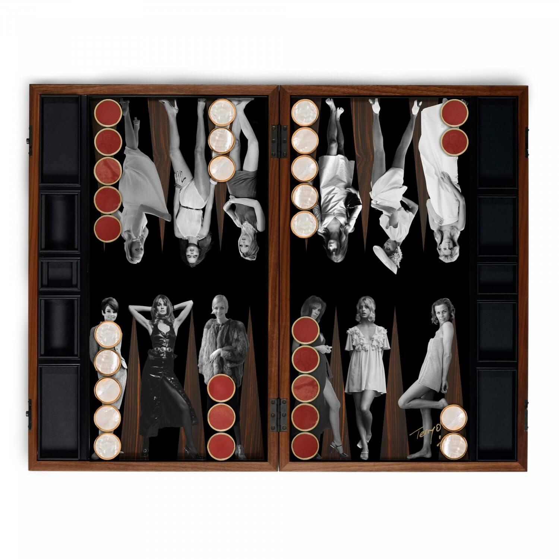 Alexandra Llewellyn Goddesses Backgammon Set Open