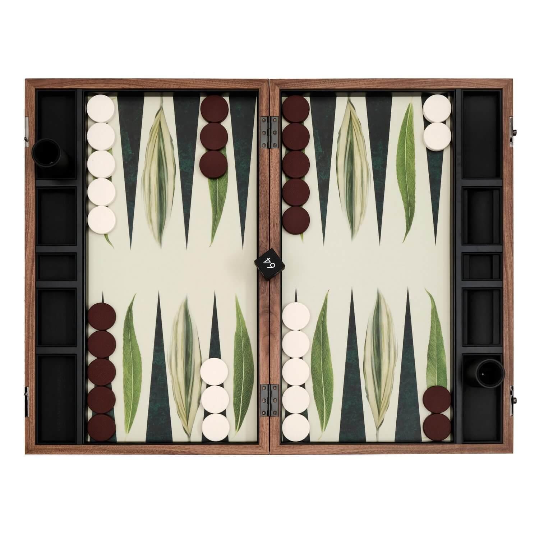 Alexandra Llewellyn Leaf Backgammon Set Open