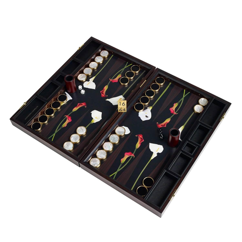 Alexandra Llewellyn Lily Backgammon Set Open