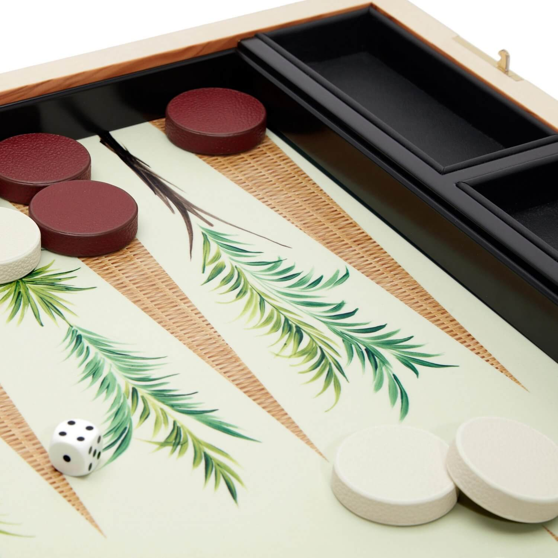 Alexandra Llewellyn Palm Backgammon Set Detail