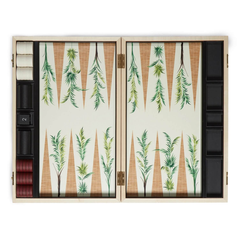 Alexandra Llewellyn Palm Backgammon Set Open