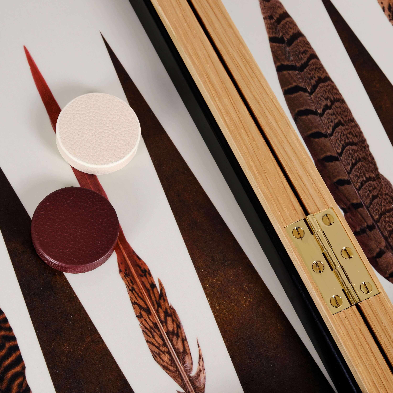 Alexandra Llewellyn Pheasant Backgammon Set Detail