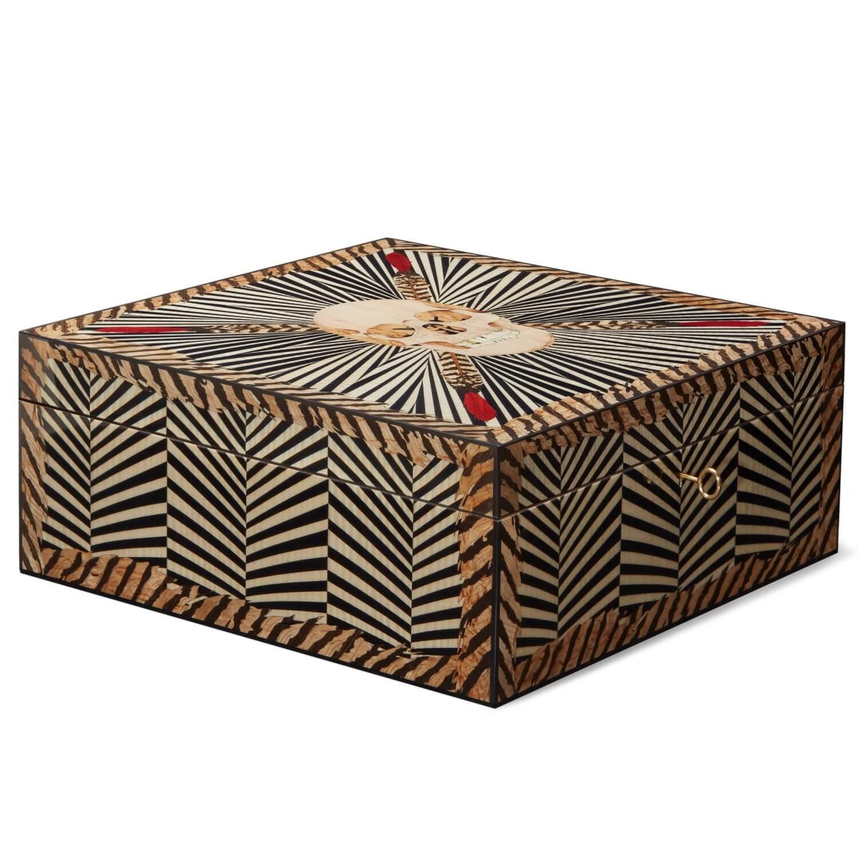 Alexandra Llewellyn Skull Poker Set Box