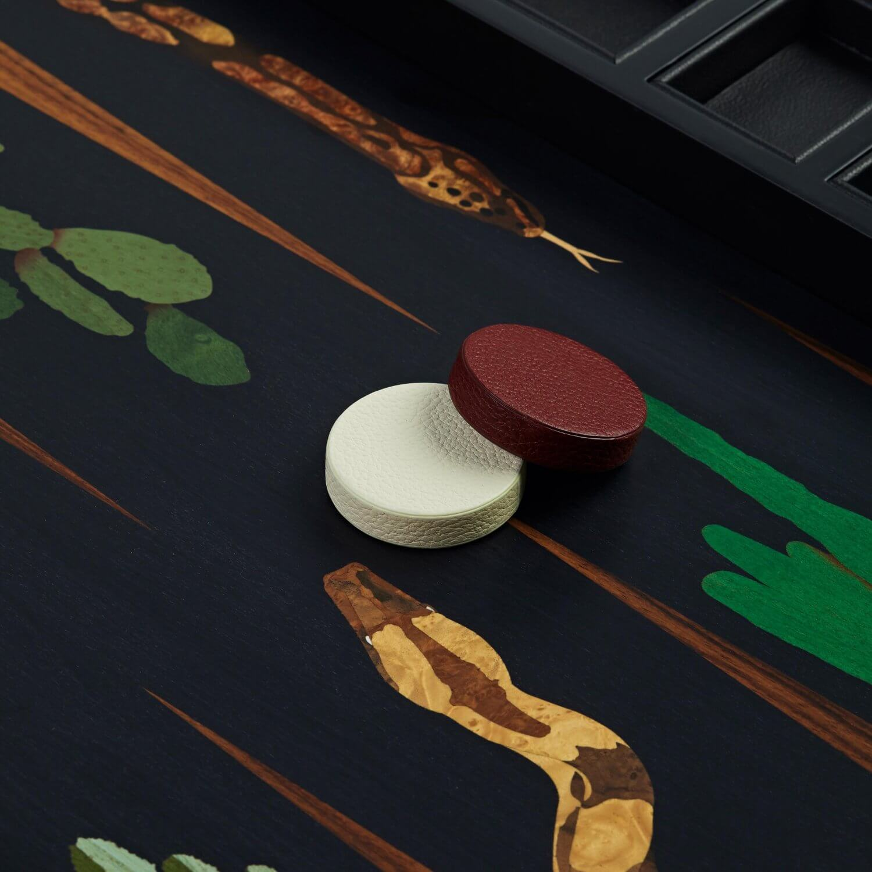 Alexandra Llewellyn Snake Marq Backgammon Set Detail