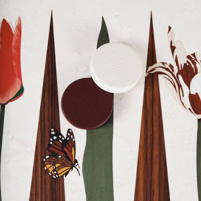 Alexandra Llewellyn Tulip Marq Backgammon Set Detail