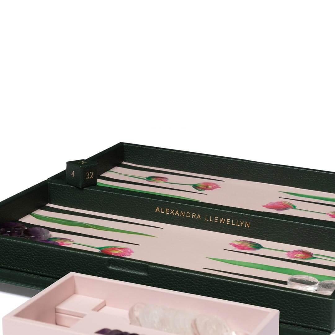 Alexandra Llewellyn Tulip Travel Backgammon Set Detail