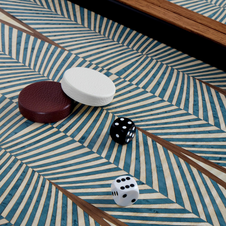 Alexandra Llewellyn Turquoise Backgammon Set Detail