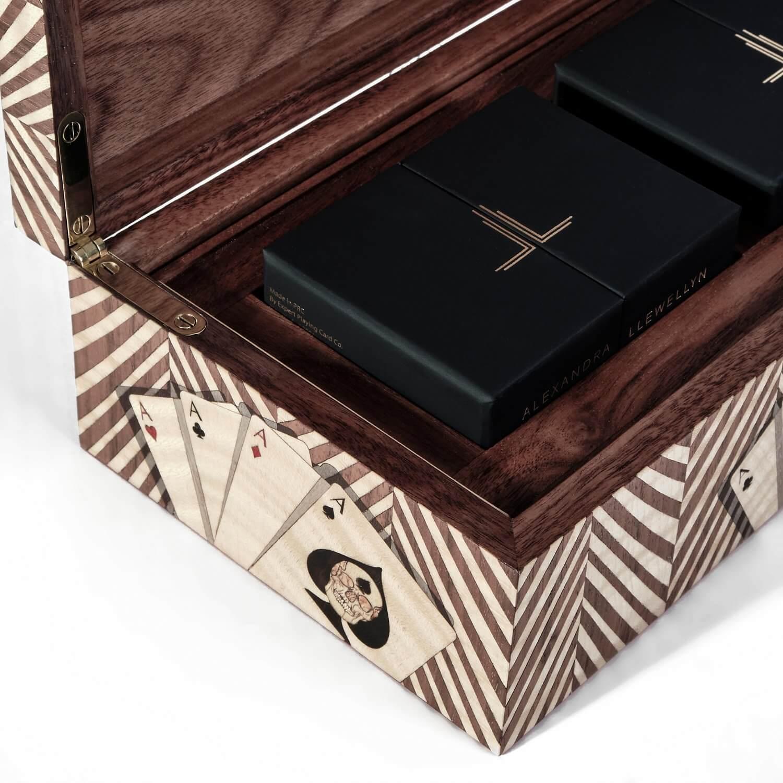 Alexandra Llewellyn Wallnut Card Box Detail