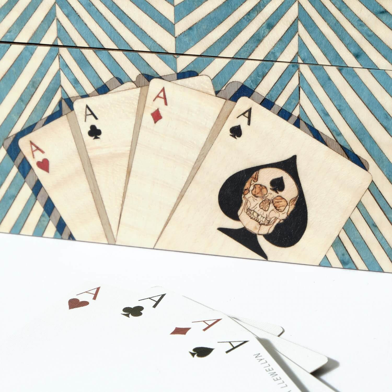 Alexandra Llewellyn Turquoise Card Box Detail