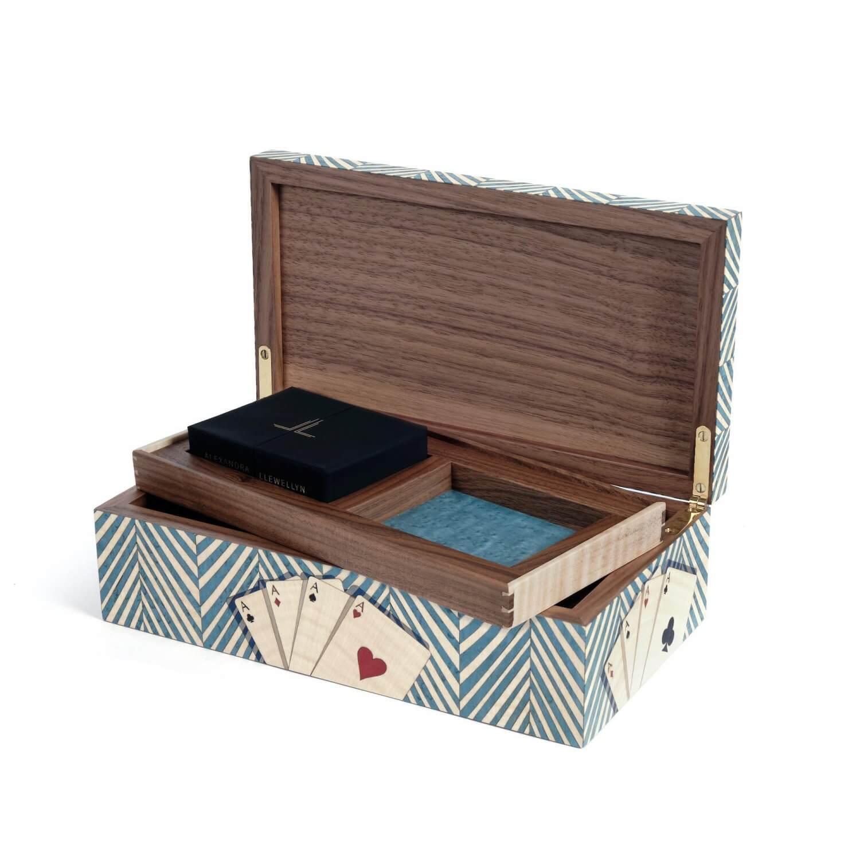 Alexandra Llewellyn Turquoise Card Box Open