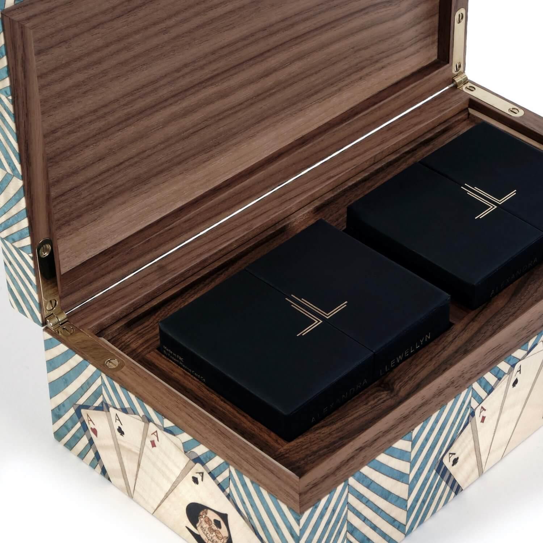 Alexandra Llewellyn Turquoise Card Box Open Detail