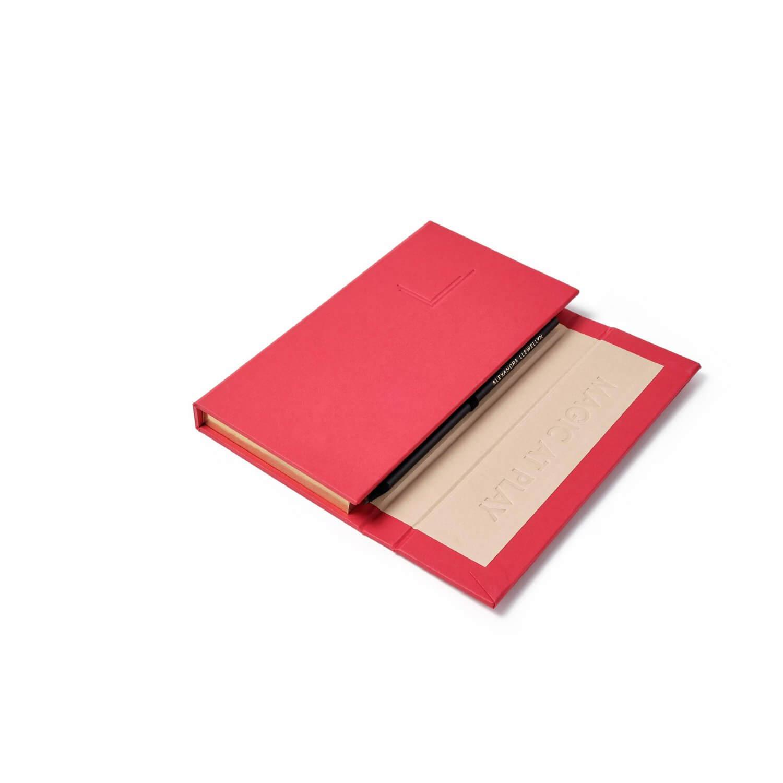 Alexandra llewellyn Red Notepad Halfopen