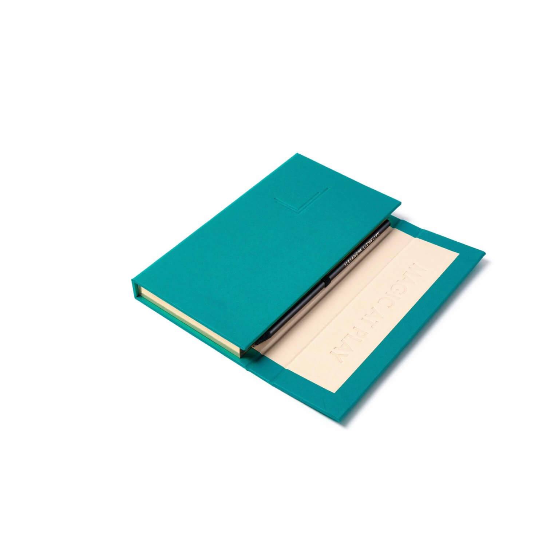 Alexandra llewellyn Turquoise Notepad Halfopen
