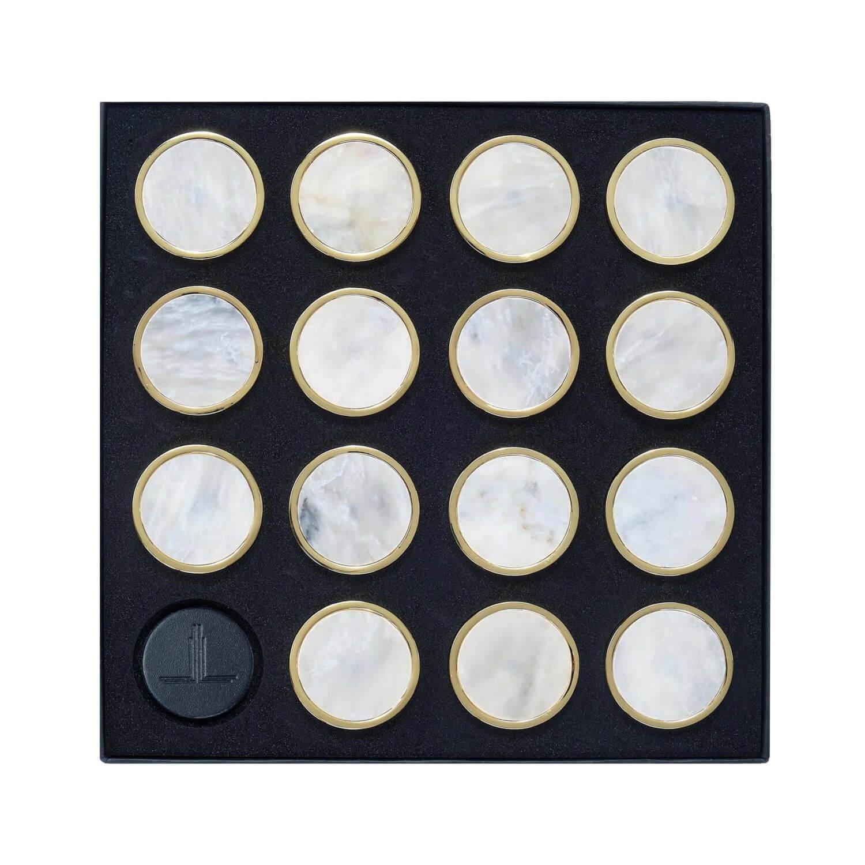 White Afghan Marble Semi Precious Playing Pieces Alexandra Llewellyn Overhead