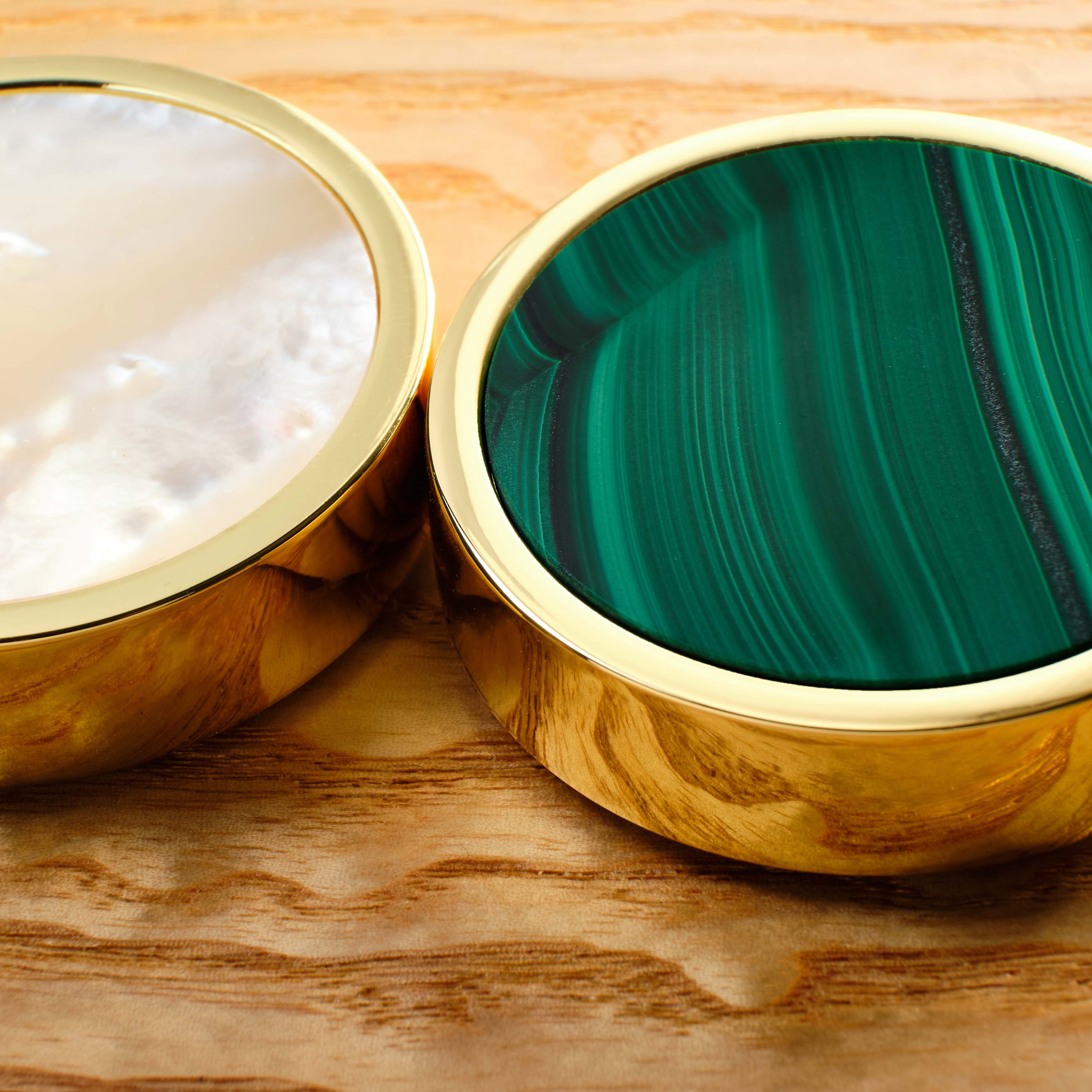 malachite and mother of pearl playing pieces