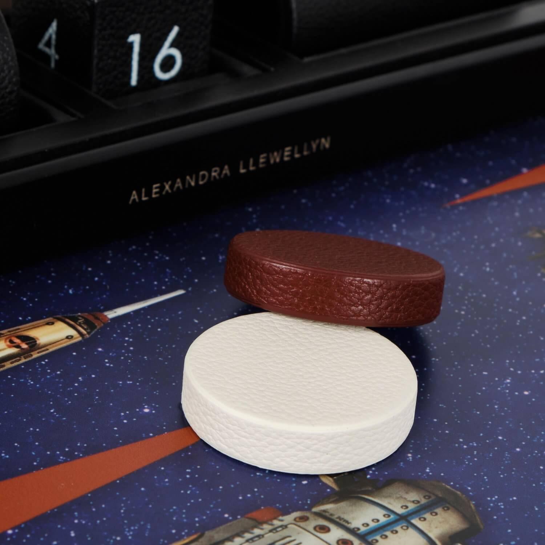 Alexandra Llewellyn Robot Backgammon Set Detail