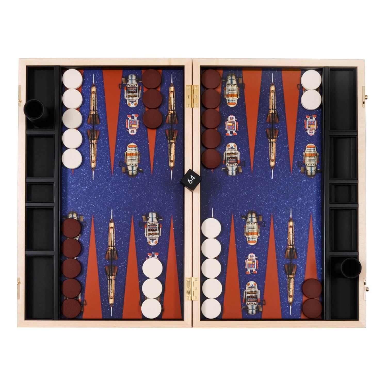 Alexandra Llewellyn Robot Backgammon Set Open
