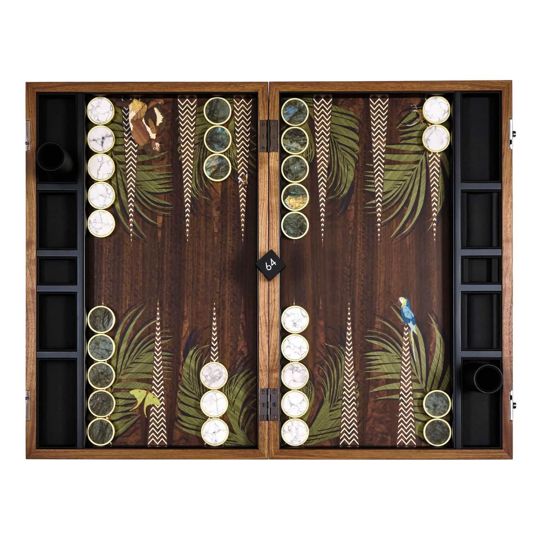 Alexandra Llewellyn Jungle Backgammon Set Open 04