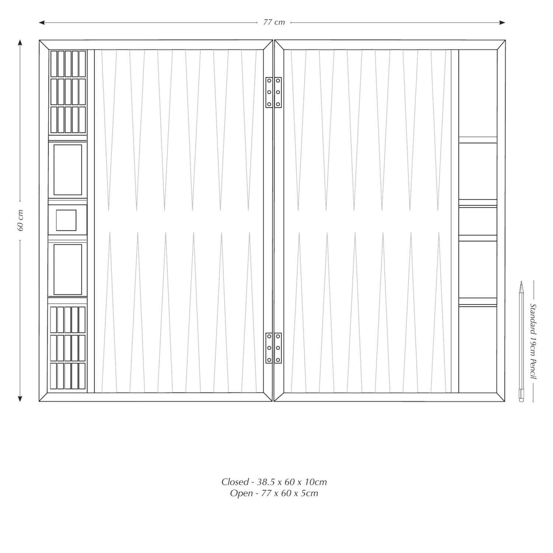 Alexandra Llewellyn Tournament Size Backgammon Board Measurements